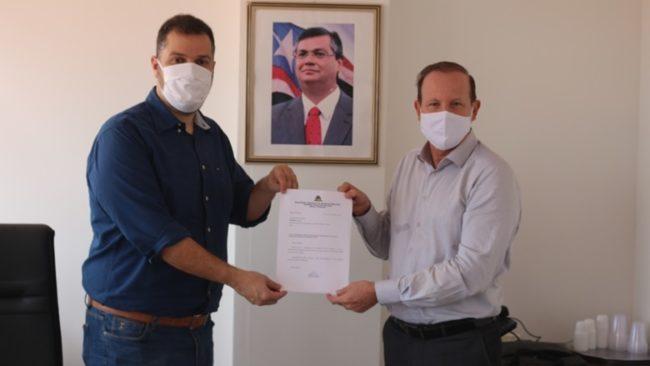Secretários Rodrigo Lago e Márcio Honaiser