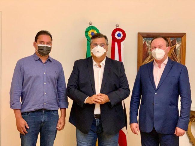 Senador Weverton Rocha, governador Flávio Dino e o vice-governador Carlos Brandão