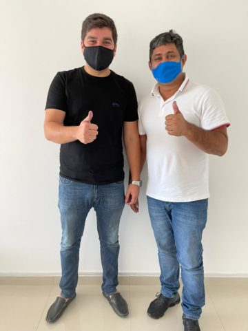 Deputado Marreca Filho e o prefeito Toca Serra