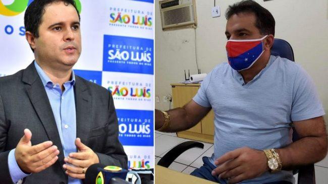 Ex-prefeito Edivaldo Holanda Júnior e o deputado federal Josimar de Maranhãozinho