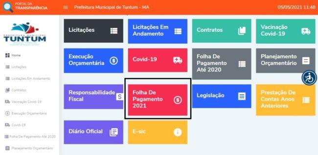 Portal de Transparência de Tuntum (MA)