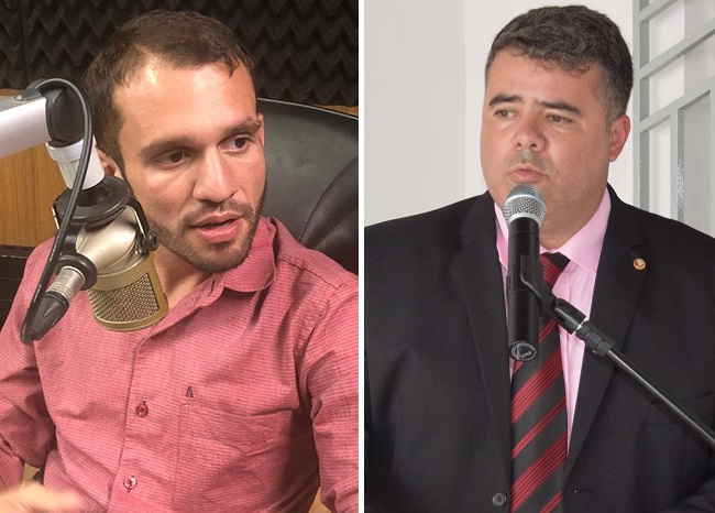 Prefeito Fernando Pessoa e o promotor Wlademir Soares