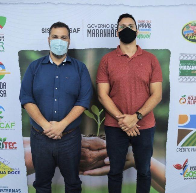 Secretário Rodrigo Lago e a liderança política Danilo Moraes, de Cedral-MA