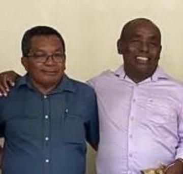 Ex-prefeito Padre Josias e o vereador Constantino