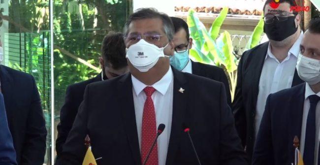 Governador do Maranhão, Flávio Dino, em discurso de filiação ao PSB