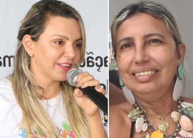 Prefeita Klautenis Deline Oliveira Nussrala e a empresária Tania Maria Marinho Prazeres