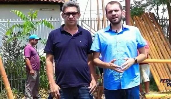 Presidente da Câmara Municipal, Ivalto, e o prefeito Fernando Pessoa