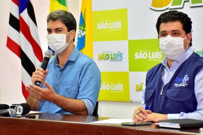 Prefeito Eduardo Braide e o secretário Joel Nunes