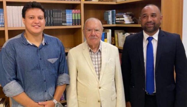 Felipe Camarão, José Sarney e Roberto Costa